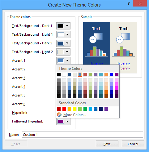 New Color in Excel 2013