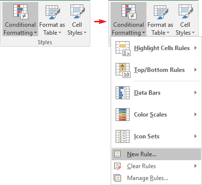 Conditional Formatting in Excel 2016