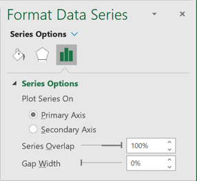 Gap Width for Data Series in Excel 365