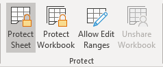 Protect Sheet in Excel 365