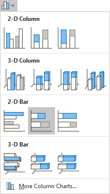 Stacked Bar in Excel 365