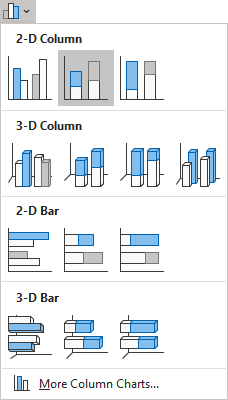 Stacked Column in Excel 365