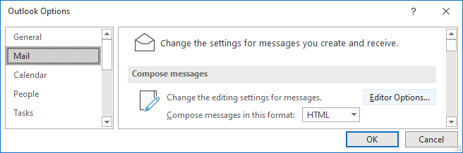Mail Options in Outlook 365