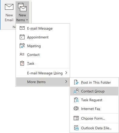New Items in Outlook 365