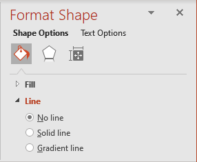 Line in Format Shape pane in PowerPoint 365