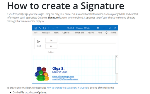 Creating an E-mail Signature