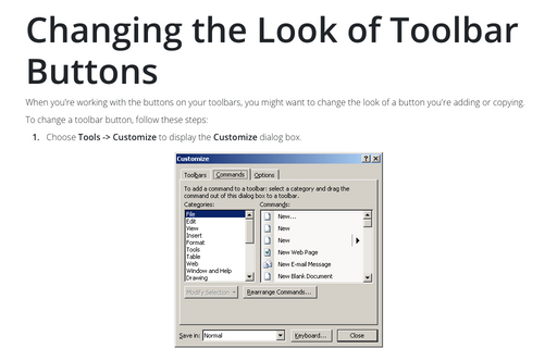 Changing the Look of Toolbar Buttons
