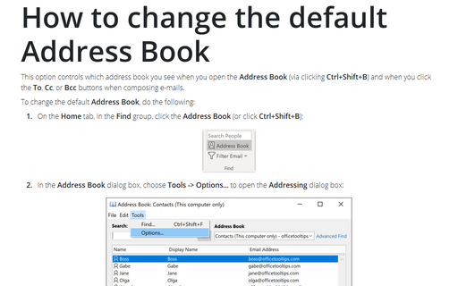 How to change the default Address Book
