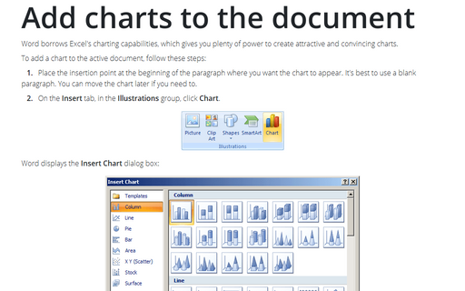 Add Charts to the Document