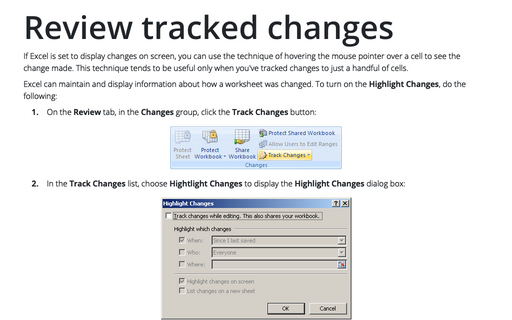Review tracked changes