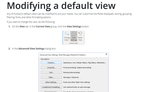 Modifying a default view