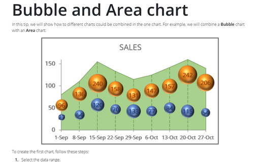 Using bubble and area charts