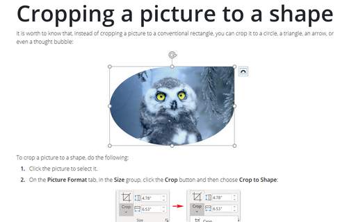 Cropping a picture to a shape