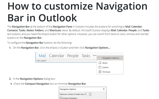 How to customize your Navigation Bar