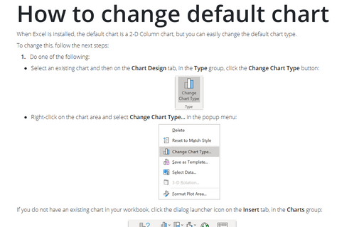 How to change default chart