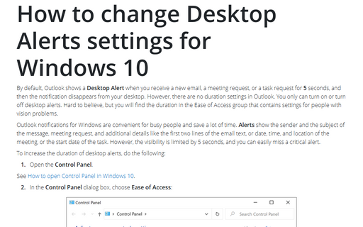 How to change Desktop Alerts settings for Windows 10