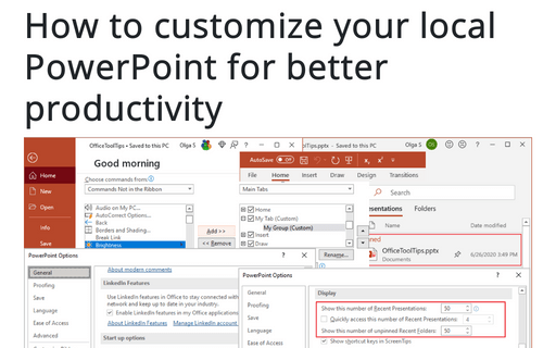How to customize your local PowerPoint for better productivity