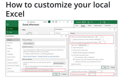 How to customize your local Excel