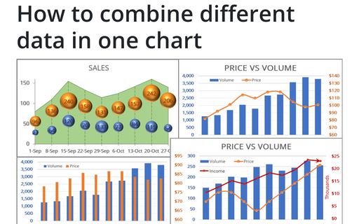 How to combine different data in one chart