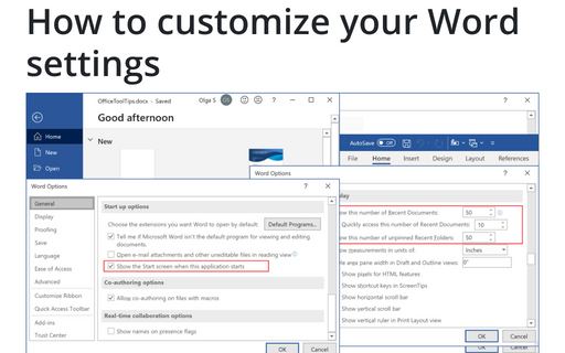 How to customize your Word settings