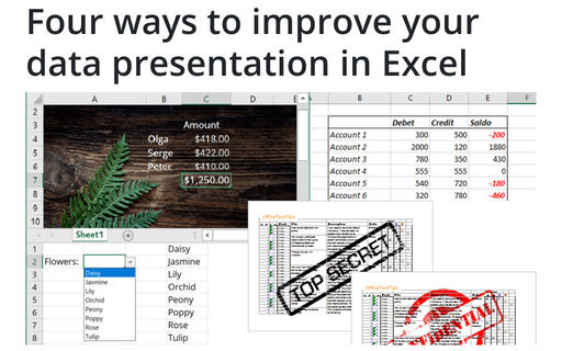 Four ways to improve your data presentation in Excel