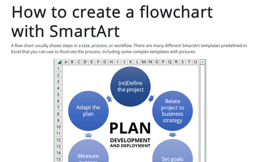 How to create a flowchart with SmartArt