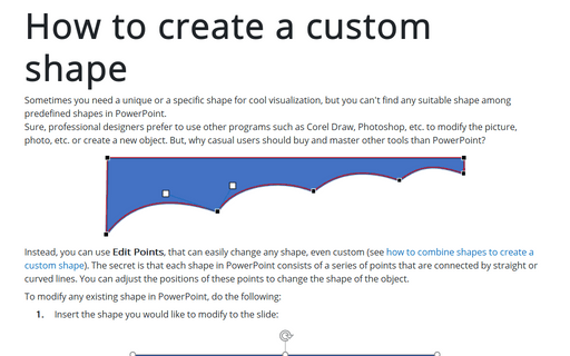 How to create a custom shape