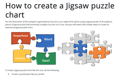 How to create a Jigsaw puzzle chart