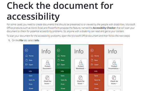 Check the document for accessibility