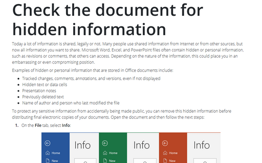 Check the document for hidden information