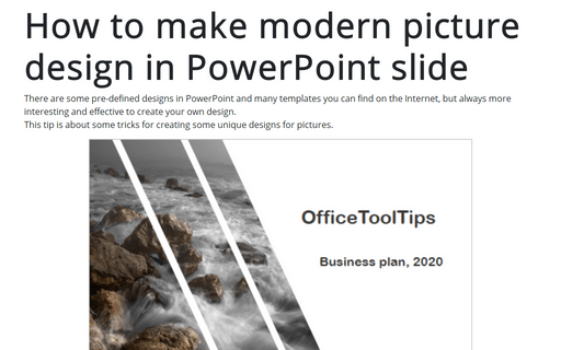 How to make modern picture design in PowerPoint slide