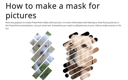 How to make a mask for pictures in the PowerPoint slide