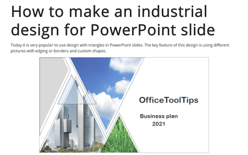 How to make an industrial design for PowerPoint slide