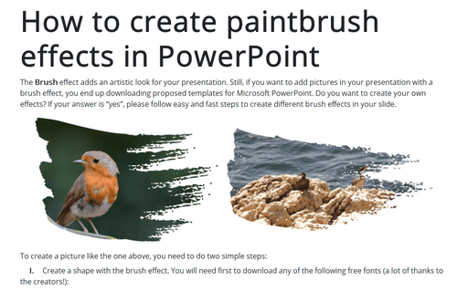 How to create paintbrush effects in PowerPoint