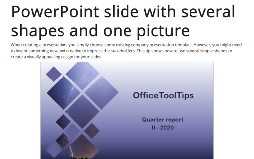 PowerPoint slide with several shapes and one picture