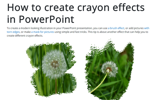 How to create crayon effects in PowerPoint