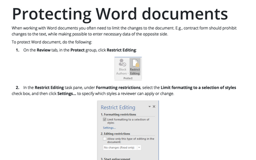 Protecting Word documents