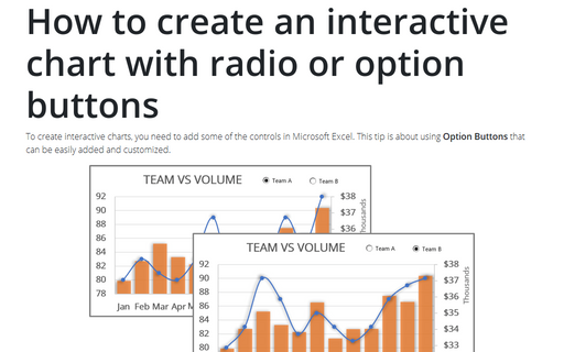 How to create an interactive chart with radio or option buttons