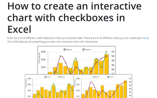 How to create an interactive chart with checkboxes in Excel