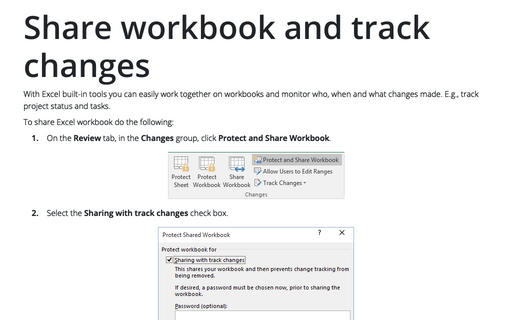 Share workbook and track changes