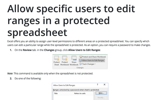 Protect Excel spreadsheet options - Microsoft Excel 2016