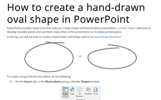 How to create a hand-drawn oval shape in PowerPoint
