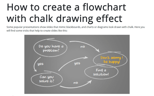 How to create a flowchart with chalk drawing effect