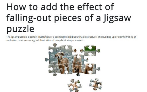 How to add the effect of falling-out pieces of a Jigsaw puzzle