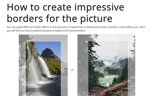How to create impressive borders for the picture