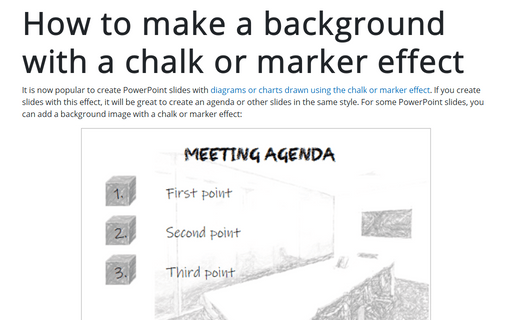 How to make a background with a chalk or marker effect