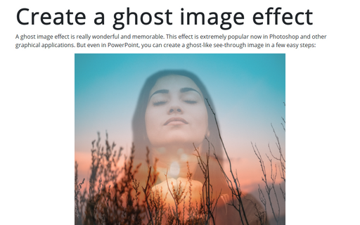 Create a ghost image effect in PowerPoint