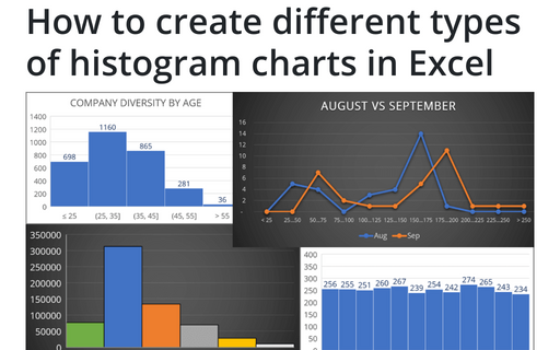 How to create different types of histogram charts in Excel