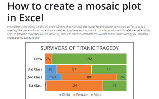 How to create a mosaic plot in Excel