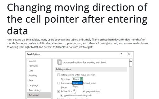 Microsoft Excel Navigation tips and tricks
